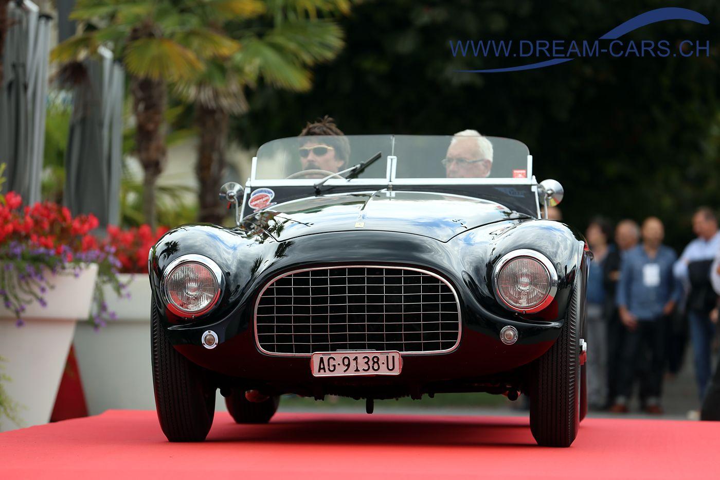 Concours d'Excellence Luzern, 17. September 2016. Ferrari 340 America von 1950. Louis Frey jun. (am Lenkrad) und der Senior auf dem Beifahrersitz.