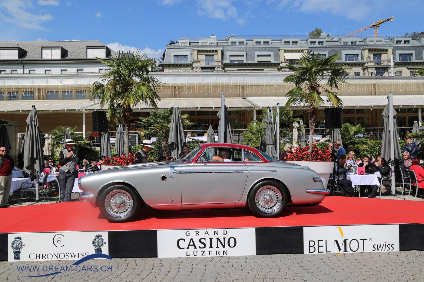 Concours d'Excellence Luzern 2017. Auf der Bühne der spektakuläre Fiat 8V Coupé Vignale von 1953