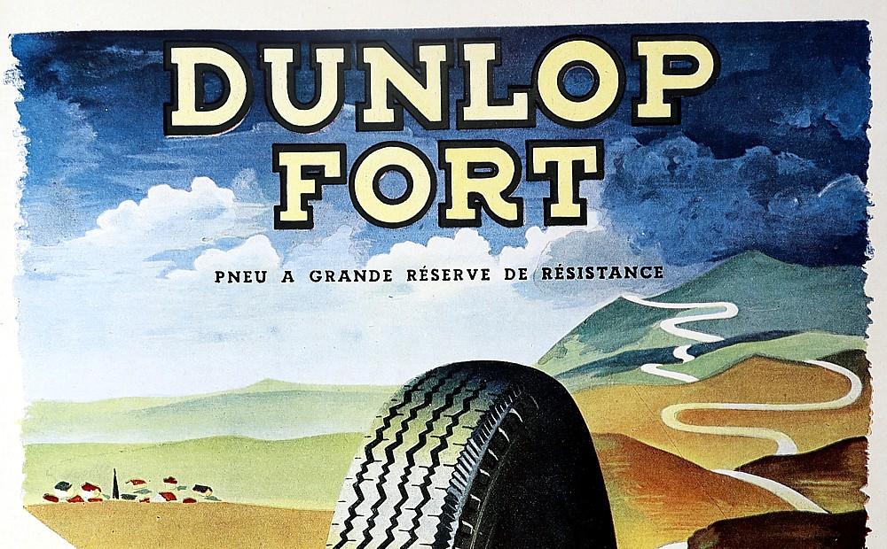 DUNLOP Werbung von 1948 im Magazin France ILLUSTRATION