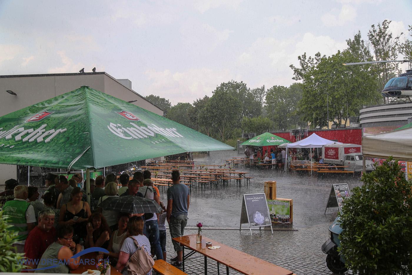 Einbecker Oldtimertage im PS.SPEICHER, 20. - 22. Juli 2018. Zum Abschluss gab es heftige Regengüsse