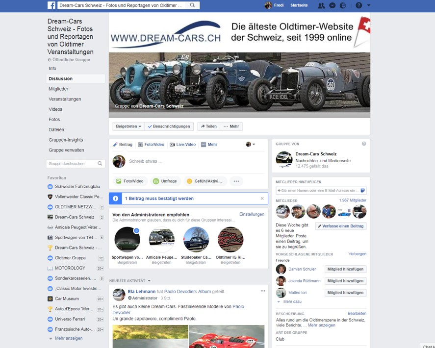 Facebook-Gruppe DREAM-CARS.CH
