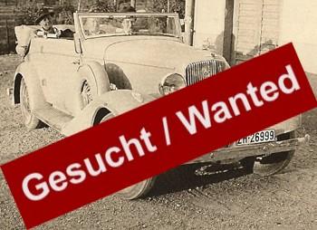 Gesucht, Informationen Fahrzeuge, Oldtimer Wanted