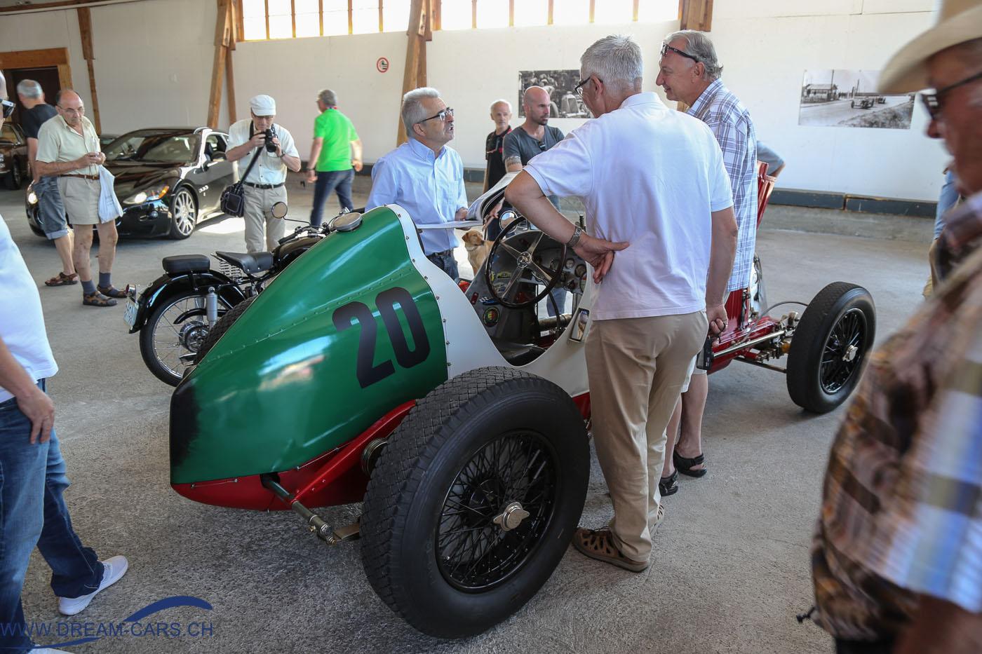 OSMT August 2016. Kurt Hasler gibt Auskunft über seinen Maserati 8 CM von 1933