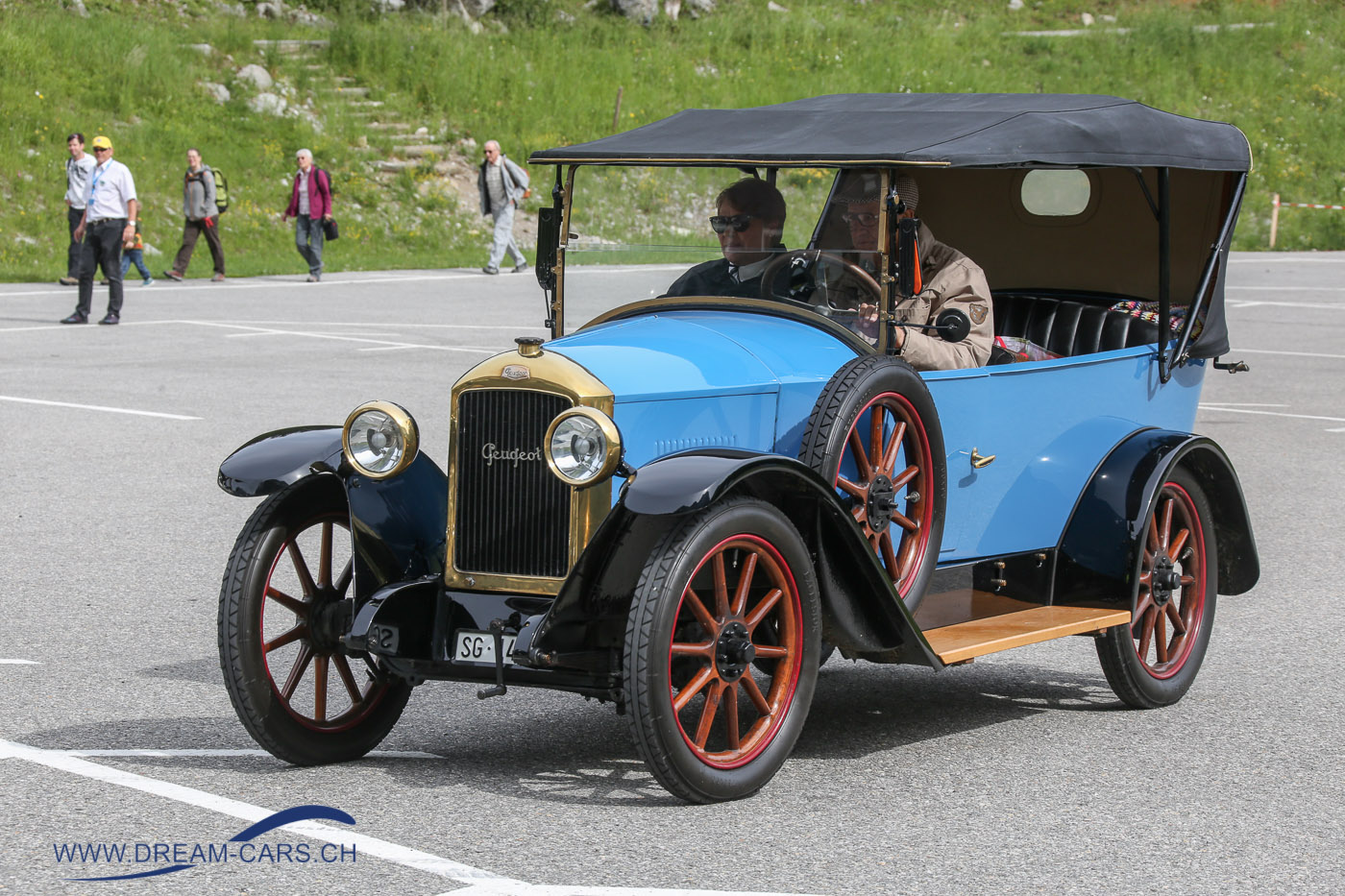 Oldtimertreff Schwägalp, 24. Juni 2018. Ein Peugeot Typ 177 aus den frühen Zwanzigerjahren