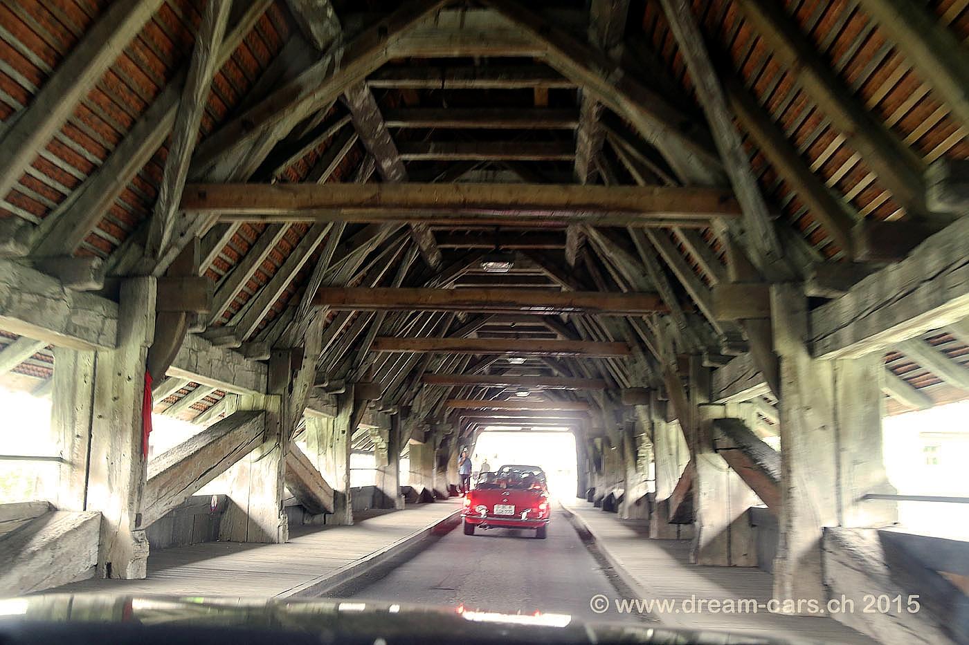Holzbrücke in Aarberg