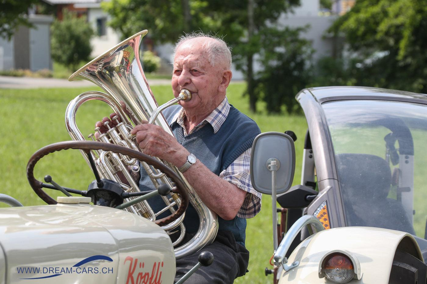 Oldtimertreffen Wängi, 17. Juni 2018. Auch für musikalische Unterhaltung ist gesorgt.