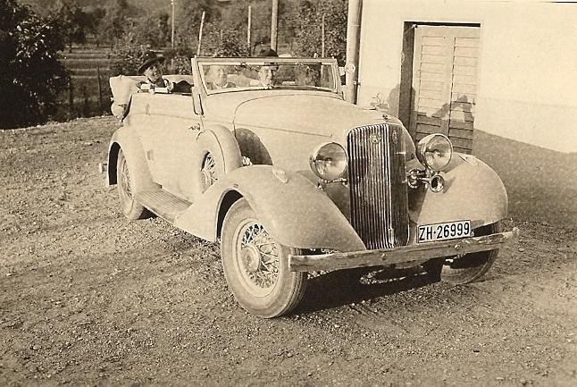 Pontiac Straight Eight Cabriolet 1933 von A. Ruckstuhl, Luzern