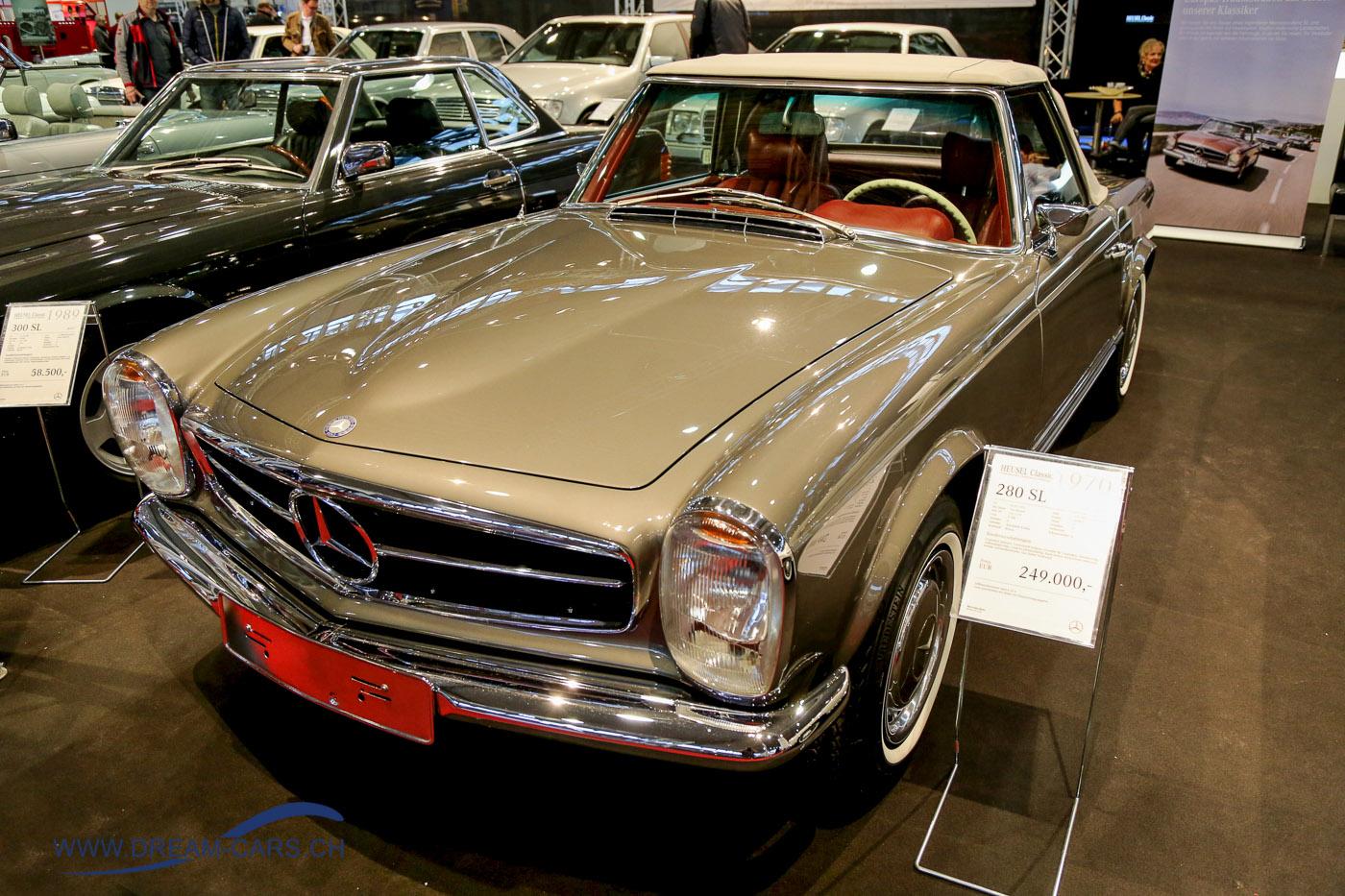 RETRO CLASSICS Stuttgart 2017. EUR 249'000.00 für einen Mercedes 280 SL sind ein stolzer Preis