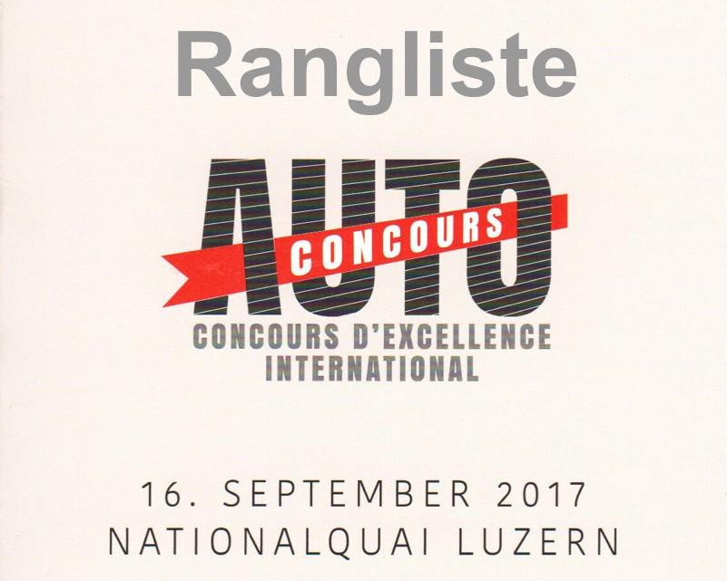 Rangliste Concours d'Excellence Luzern 2017