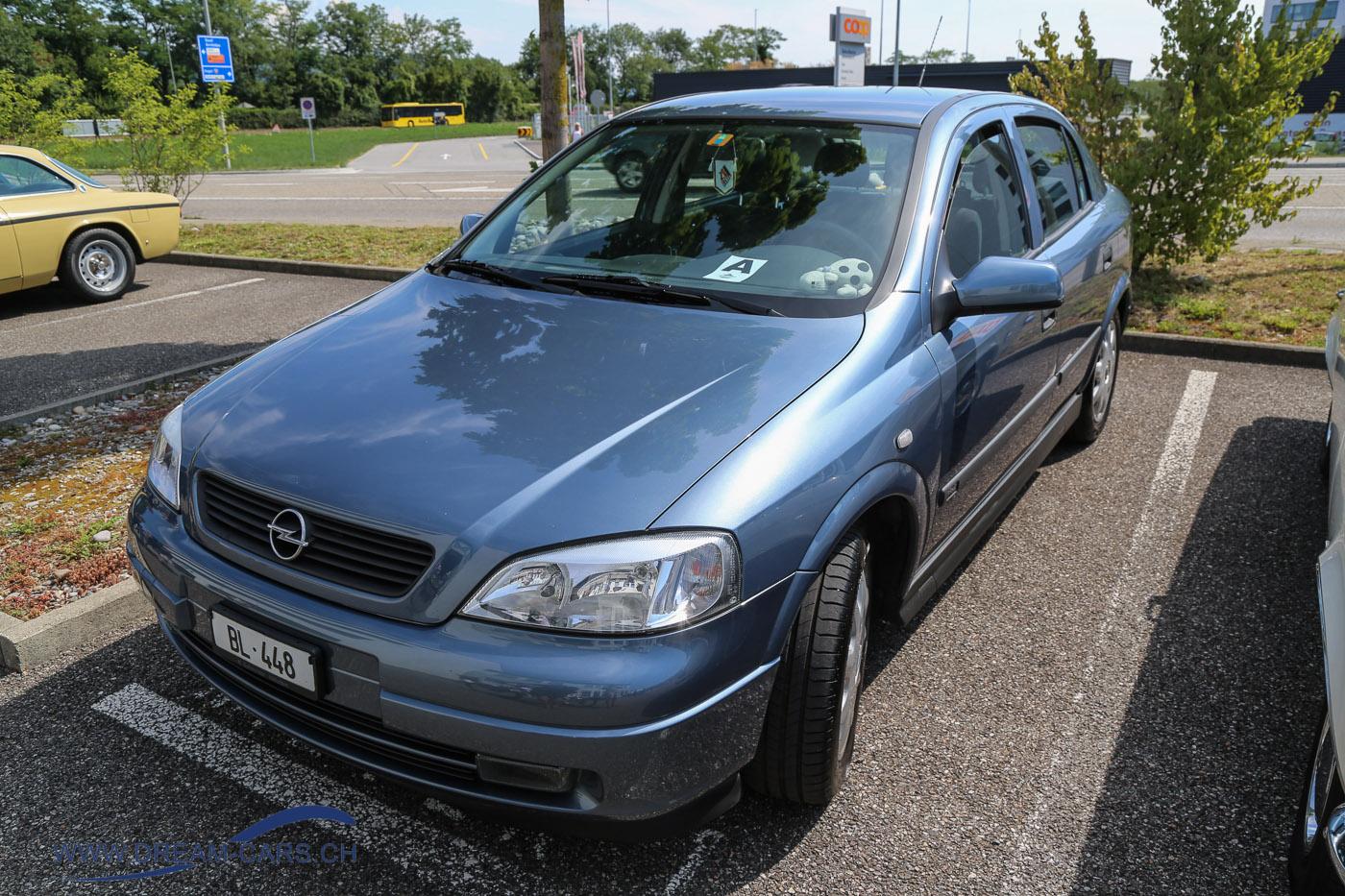 Youngtimer & Classic Pratteln, 14.07.2018. Ein Opel Astra aus den späten 90er-Jahren.