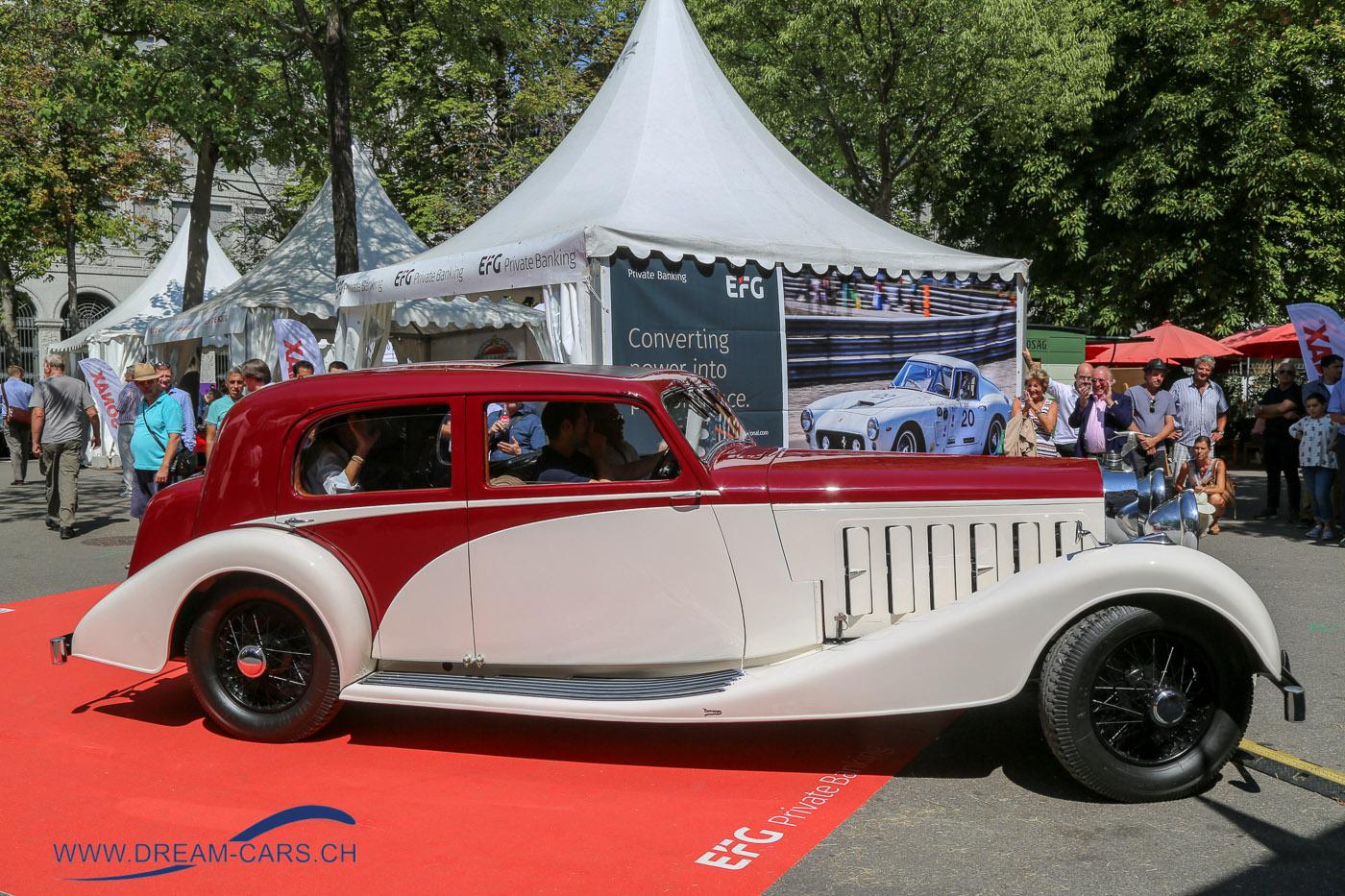 ZCCA - Zürich Classic Car Award, 22. August 2018. Der Hispano-Suiza gewann den Publikumspreis