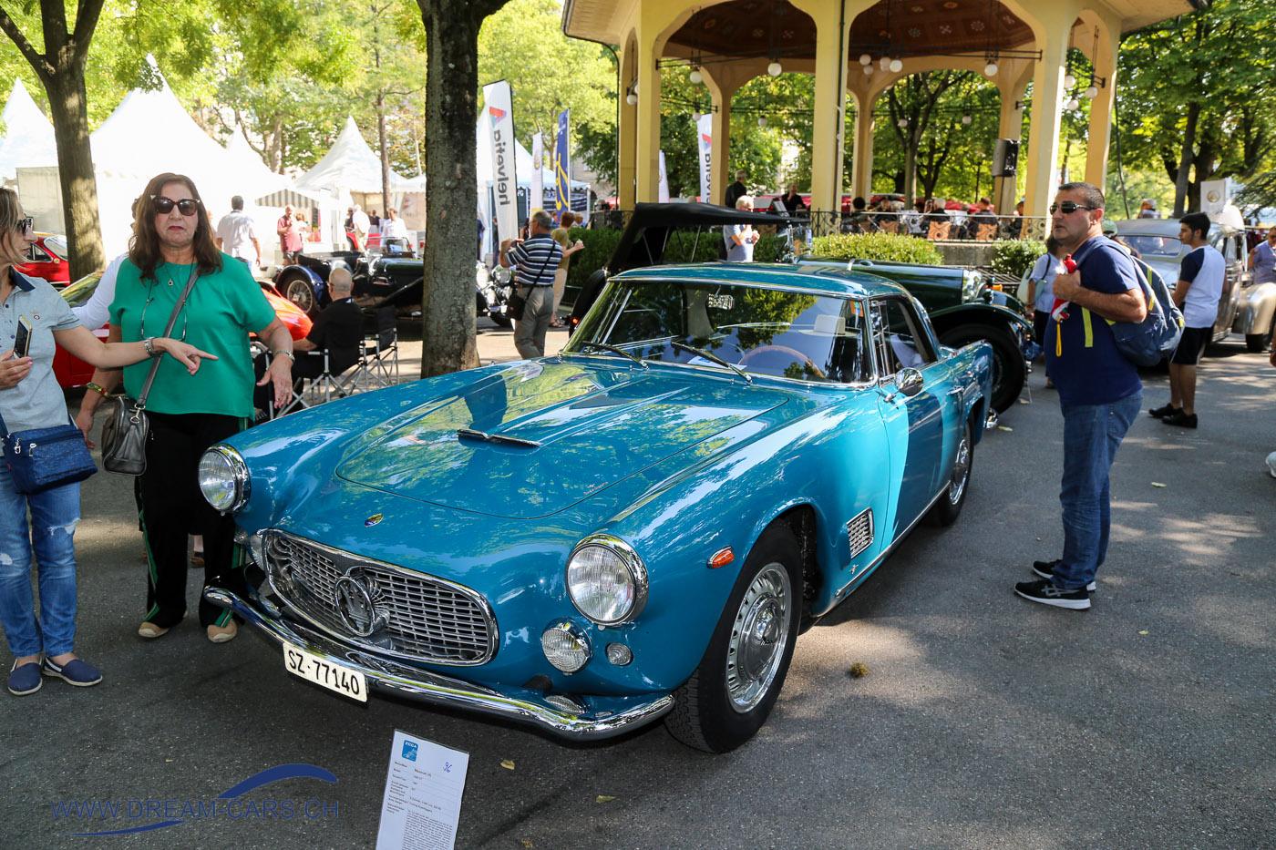 ZCCA - Zürich Classic Car Award, 22. August 2018. Der Maserati 2500 GT Touring Superleggera von 1961 ist perfekt erhalten.