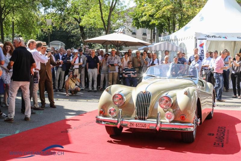 ZCCA Zürich Classic Car Award 2017. Sieger des Publikumspreises, ein Jaguar XK 140