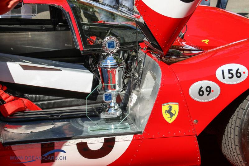 ZCCA Zürich Classic Car Award 2017. Der Siegerpokal für den Ferrari 312P als Best of Show