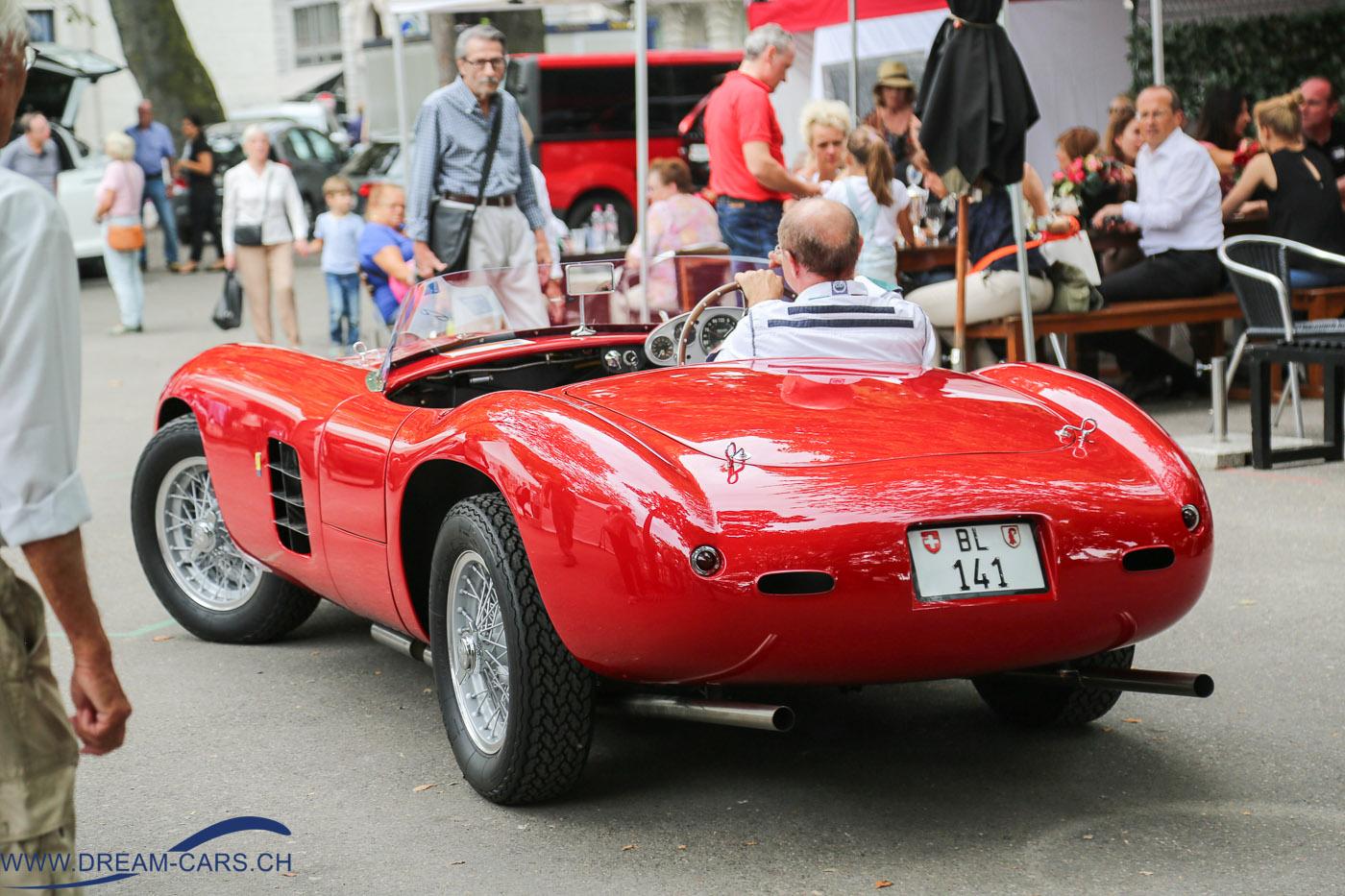 ZCCA Zurich Classic Car Award 2016. Der Ferrari 166 nach der Preisverleihung.